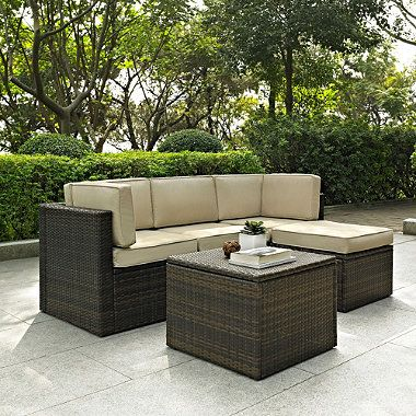 Palm Harbor Collection 5-Piece Outdoor Wicker Seating Set - BedBathandBeyond.com