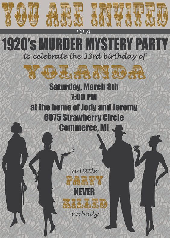 how to write a murder mystery party