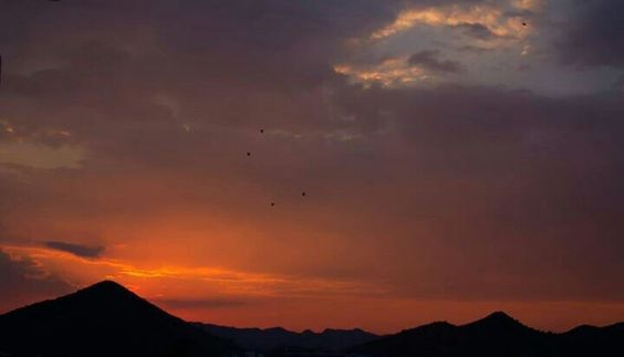 Sunset in Udaipur  Clicked by Guni
