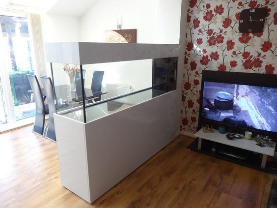 Marine room divider aquarium size 72x24x18 inch from prime aquariums room divider pinterest - Fish tank partition wall ...