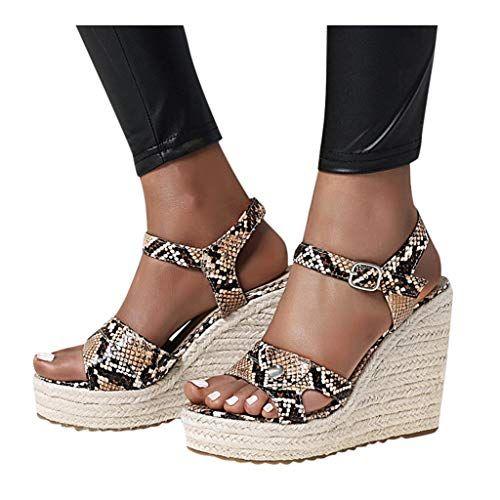 Dainzusyful Wedge Sandals for Women