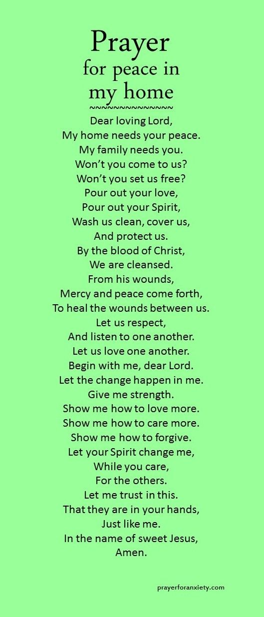 How To Green Your Home prayer for peace in my home! | church | pinterest | peace, faith
