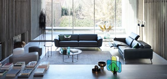 Roche Bobois | FREQUENCE large 3-seat sofa | Designed by Sacha Lakic. Manufactured in Europe. #rochebobois #frenchartdevivre #frequence