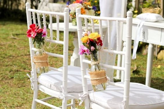 Ideas para decorar las sillas del matrimonio