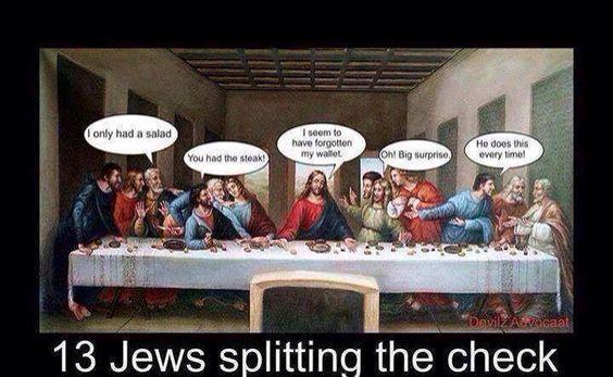 13 Jews splitting the check