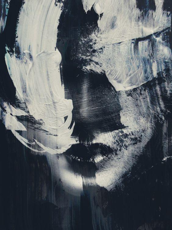 Textured portraits by Michal Mozolewski #bleaq #dark #art #photomanipulation #texture #portrait #digital #illustration