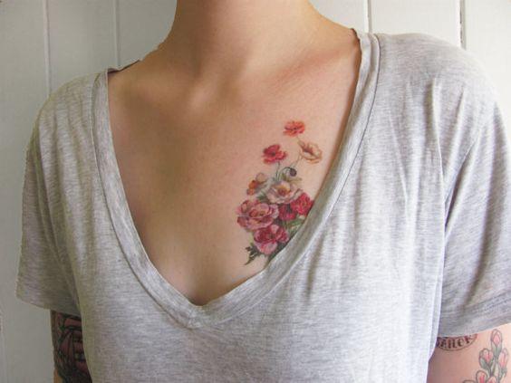 He encontrado este interesante anuncio de Etsy en https://www.etsy.com/es/listing/95905173/vintage-poppies-temporary-tattoo