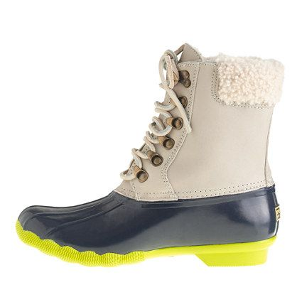 Sperry Top-Sider® for J.Crew leather shearwater boots - Sperry Top ...