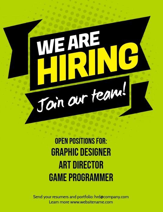 Hiring Flyer Hiring Poster Recruitment Poster Design Creative Poster Design