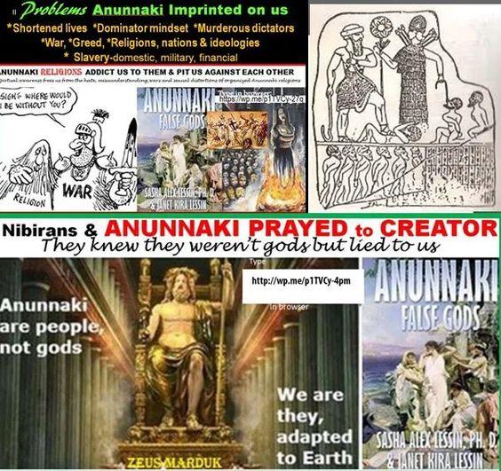 De buitenaardsen die de aarde bezochten en de mensheid maakten naar hun evenbeeld...