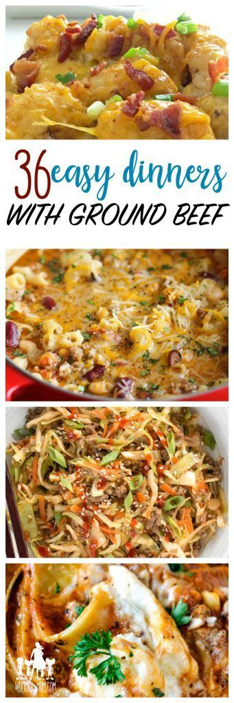 Cheap Recipes 36 Things To Make With Ground Beef Dinner With Ground Beef Cheap Meals Cheap Dinners