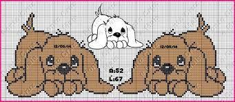 Resultado de imagem para cachorros em ponto cruz