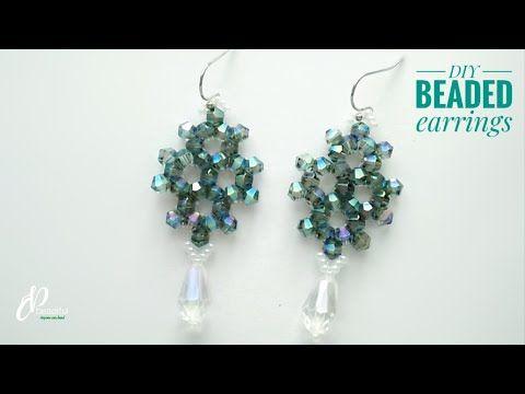 Easy Diy Beaded Earrings How To Make Beaded Earrings Tutorial