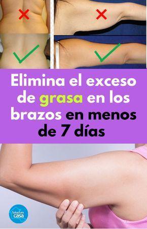 Dieta para perder grasa de los brazos