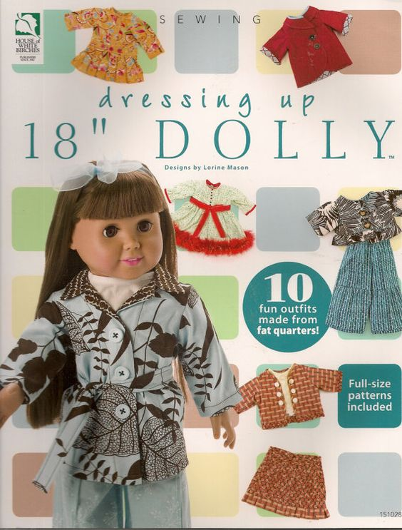 Dressing Up 18 Dolly Sewing Book by needlecraftsupershop on Etsy, $14.99
