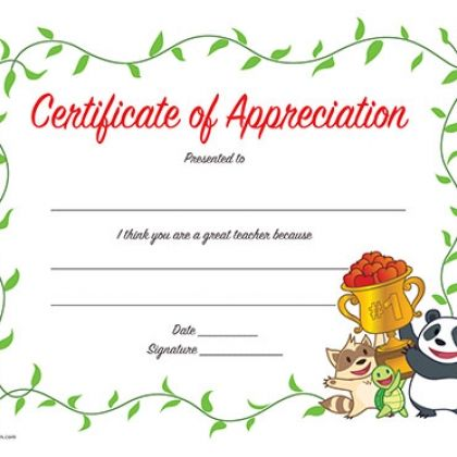Printable Teacher Gift: Certificate of Appreciation | certificate ...