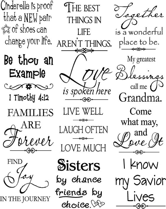 Beautiful vinyl lettering sayings - to put onto canvas / wood?