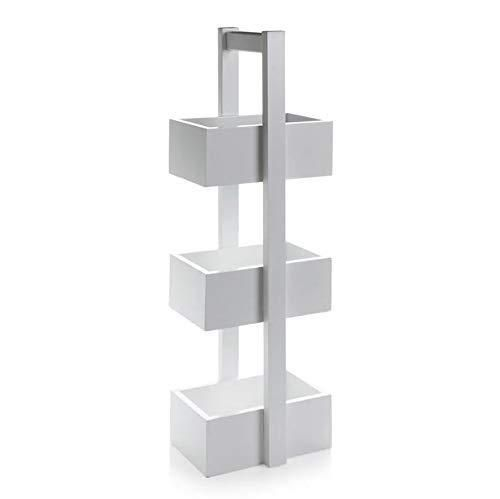 White Wooden Bathroom Caddy Free Standing Bathroom Storage Organiser 3 Tier Freestanding Bathroom Storage Bathroom Storage Bathroom Storage Units