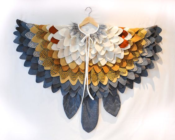 Eulenkostüm für Kinder Vogelmantel Eulen Flügel von AtelierSpatz