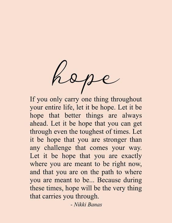 Hope 8 5 X 11 Print Hope Quote Inspirierende Zitate Inspirierende Zitate Leben Ermutigende Zitate