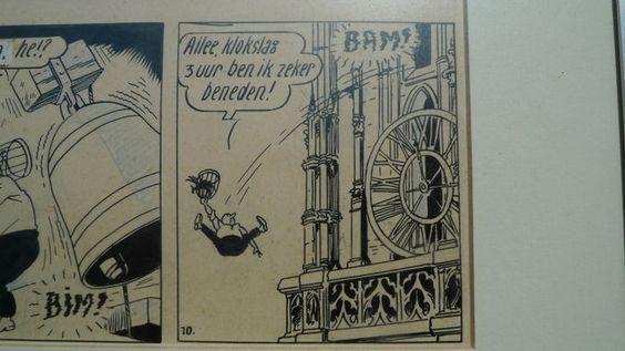 Vandersteen, Willy - Originele halve pagina Suske en Wiske - Het Vliegende Hart…