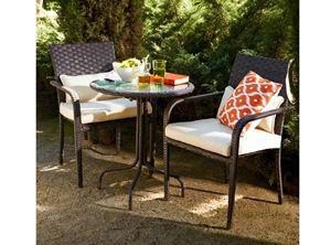 Set terraza mesa+2 sillas Rattan Austin. - OUT ZEN