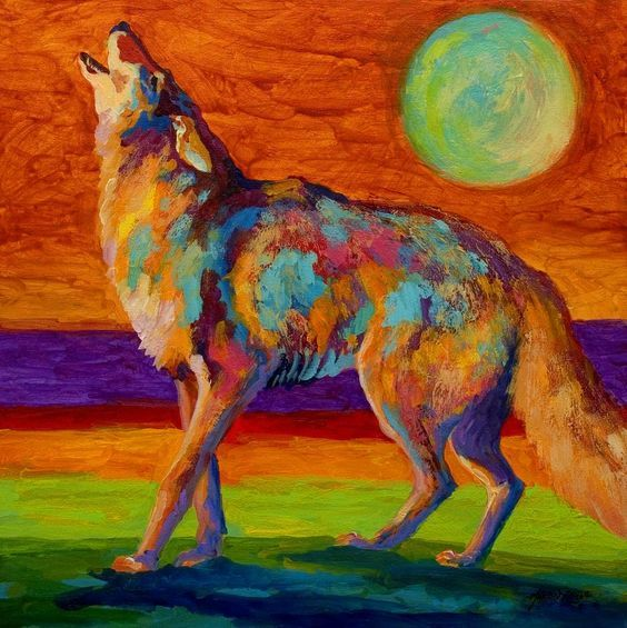"""""""Coyote."""" Original Poem. """"Laughing As we run our cages He sings for joy To the moon. (My wolf sings back to him.) (Click link to read entire post.) #coyote #poetry #original_poetry #animals #wild_animals #nature"""