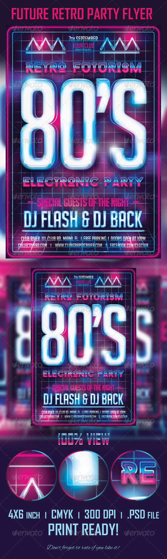 future retro party flyer template flyer template retro party future retro party flyer template make your own flyer future retro party flyer