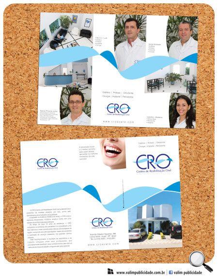 Cliente: CRO – Centro de Reabilitação Oral | Folder A4 em couche 150g fosco #cro #avare #clinica #dentista #valim #folder