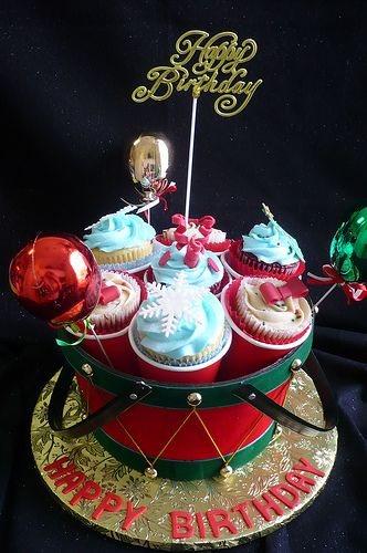 Christmas Birthday Cupcake Bouquet | Flickr - Photo Sharing!