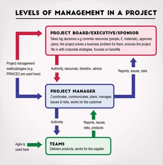 Diagram The 3 Levels Of Management In A Project Agile Project