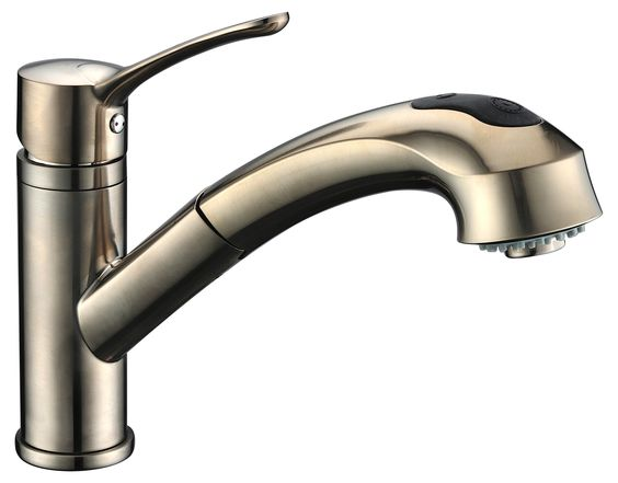 Single Handle Deck Mount Kitchen Faucet with Pull-Out Spray