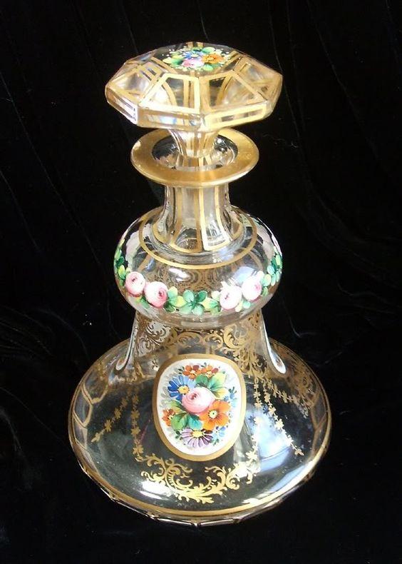 Bohemian Czech Bottle