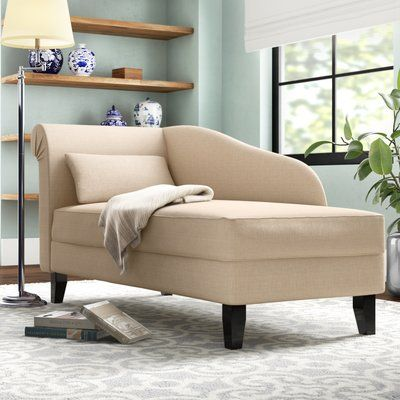Three Posts Middletown Chaise Lounge Color Beige Storage Chaise