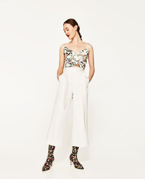 ZARA - WOMAN - DRAPED FLORAL PRINT TOP
