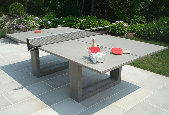 James DeWulf - Ping Pong Dining Table, Gray