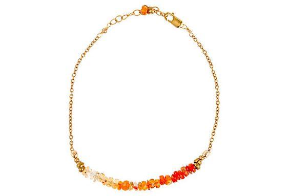 Dainty Fire Opal Bracelet #opalsaustralia