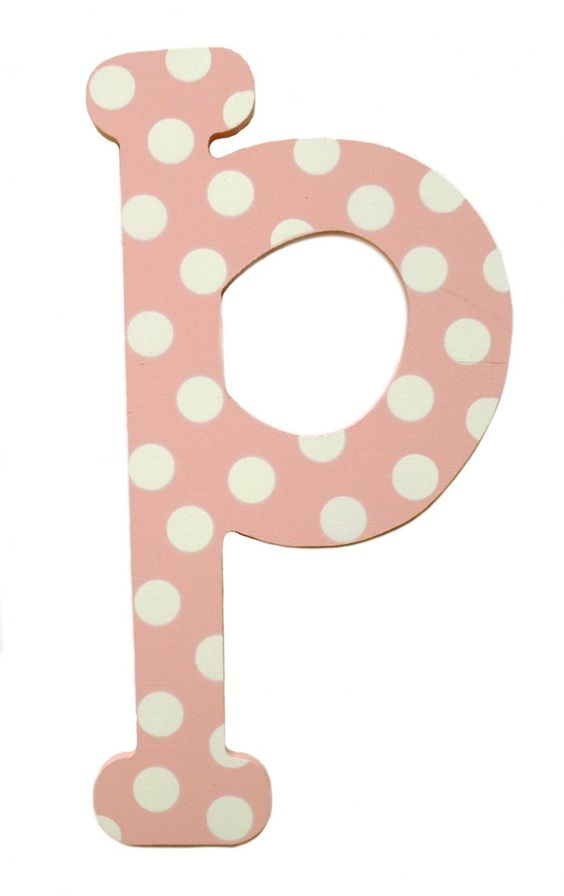 Pink Baby Boutique - Pink Polka Dot Hanging Letters Wall Decor, $10.00 (http://www.pinkbabyboutique.com/pink-polka-dot-hanging-letters-wall-decor/)