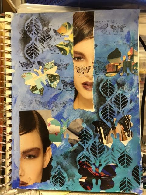 Carmen B. Norris: Art Challenge- 15 Days of 15 minute Mixed Media-5/...