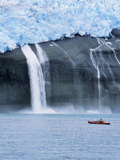 Kayak and glacier