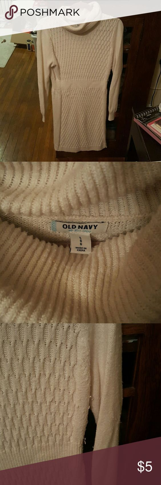 Turtleneck sweater dress Pilling shown in pics Old Navy Dresses Midi