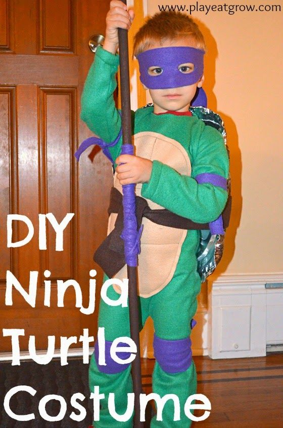 DIY Teenage Mutant Ninja Turtle Costume with a full tutorial. Lots of pictures!