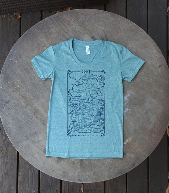 Game of Thrones Map of Westeros Tee on American by TypsyGypsyTees, $20.00