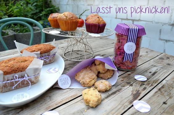 Post aus meiner Küche - Lasst uns picknicken! Herzhafte Muffins