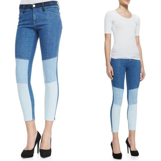 NWT Frame Denim skinny jeans Frame Denim Le Skinny de Jeanne colorblock Hayden crop skinny jeans.  See description above. Frame Denim Jeans Ankle & Cropped