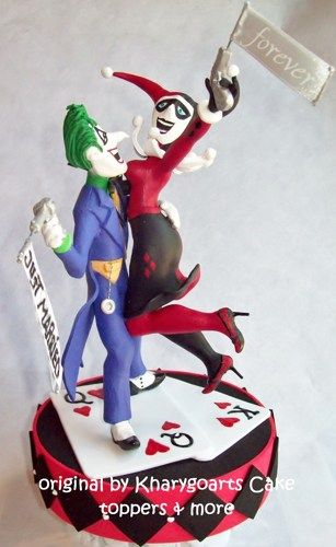 joker and harley wedding cake topper the joker and harley quinn wedding cake topper 16609