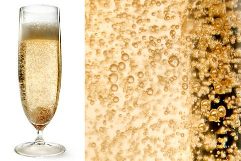 Elderflower Royale -- sparkling wine, bitters, St-Germain & a sugar cube