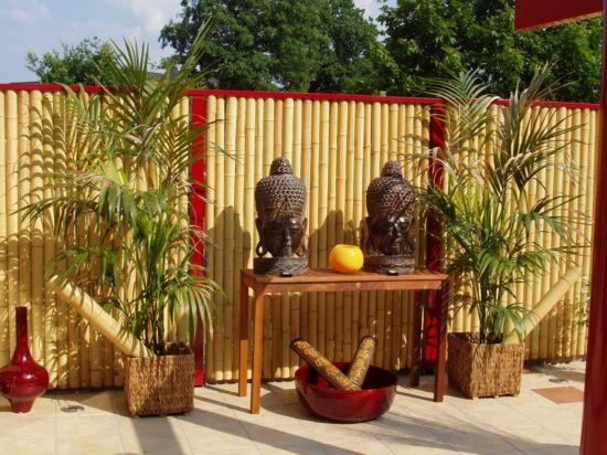 Ideal Sichtschutz im Garten u Sch tzen Sie Ihre Privatsph re sichtschutz im garten schattenspender wand nat rliche materialien Sitzplatz Sichtschutz
