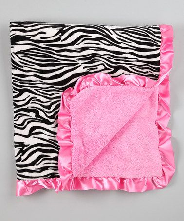 Take a look at this Black & Pink Zebra Receiving Blanket by Baby Essentials on #zulily today!
