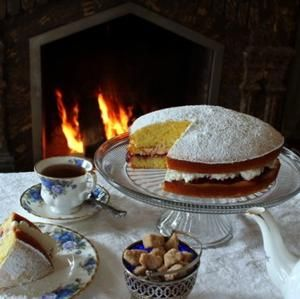 Afternoon Tea: Victoria Cake Ingredients for two 9-inch layers, serving 10-12 For the cake: 2 cups all-purpose flour 1 1/2 cups sugar 3 1/2 teaspoons baking powder 1 teaspoon salt 1/2 cup (1 stick) unsalted butter, softened 1 cup milk 2 Tablespoons vegetable oil 1 teaspoon vanilla 3 eggs, at room temperature for 30 minutes For the filling: 4-6 oz. raspberry jam 1 cup cream, thickly-whipped Making the cake – Pour all of the dry ingredients into a large mixing bowl; whisk briefly to combine…